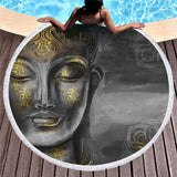 "Buddha ""Moon"" Beach Towel"
