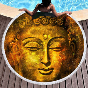 "Buddha ""Gold"" Beach Towel"