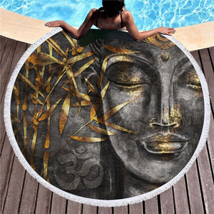"Buddha ""Night"" Beach Towel"