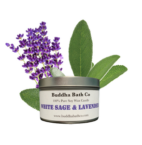 White Sage & Lavender Soy Wax Candle