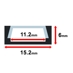 Aluminum Channel - MOSS-ALM-1506 - Moss LED