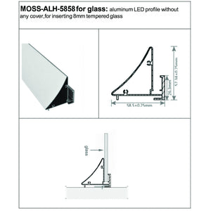Aluminum Channel - MOSS-ALH-5858 - Moss LED