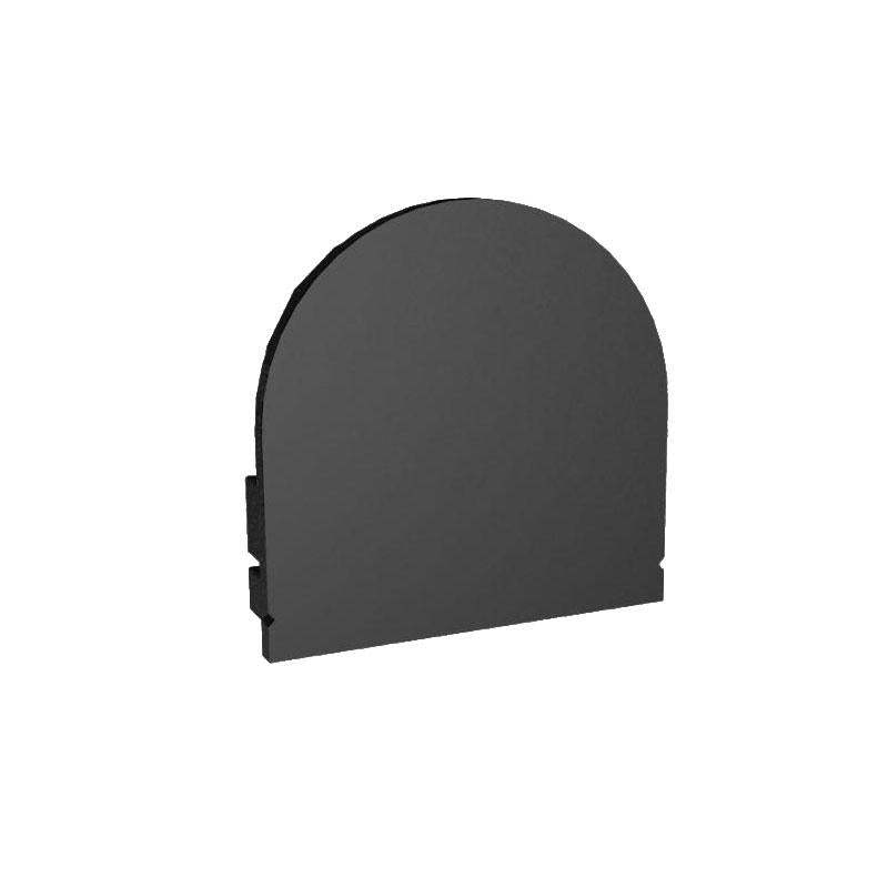 MOSS-ALQ-3015B End Cap - Closed - Black
