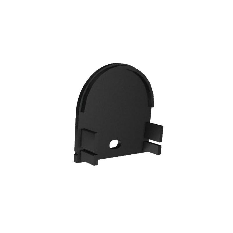 MOSS-ALQ-3015B End Cap - With Hole - Black