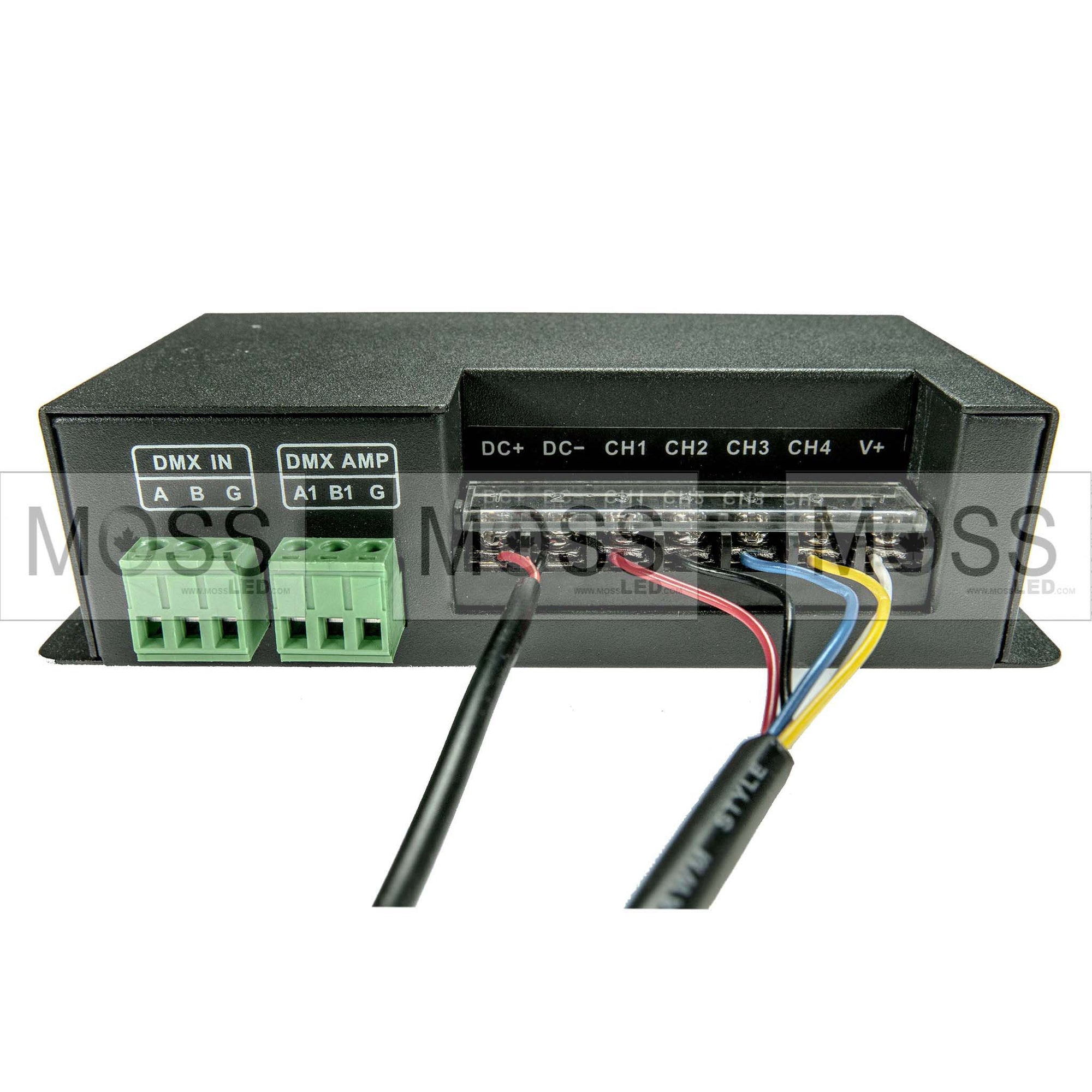 DMX Decoder Controller 3/4 Channel (RGBW/RGBA) - Moss LED
