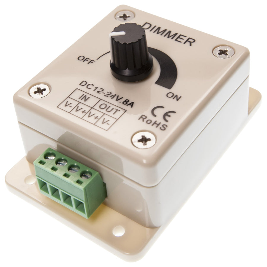 Rental Single Channel Rotary Dimmer - Moss LED