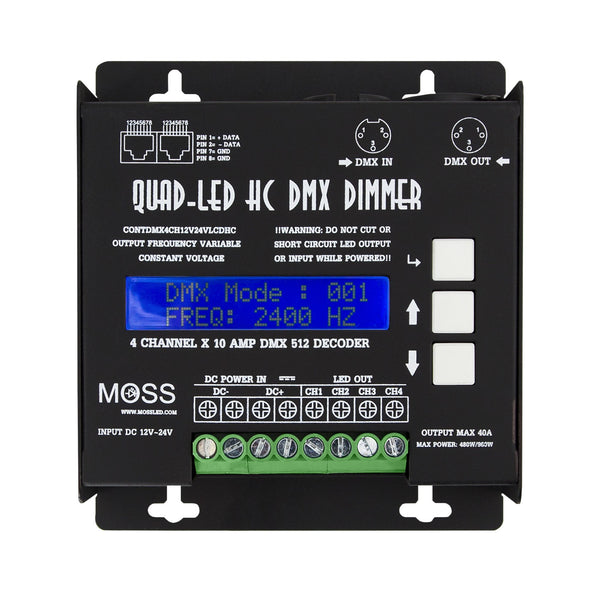 Rental - High Current QuadLED DMX Dimmer - Moss LED