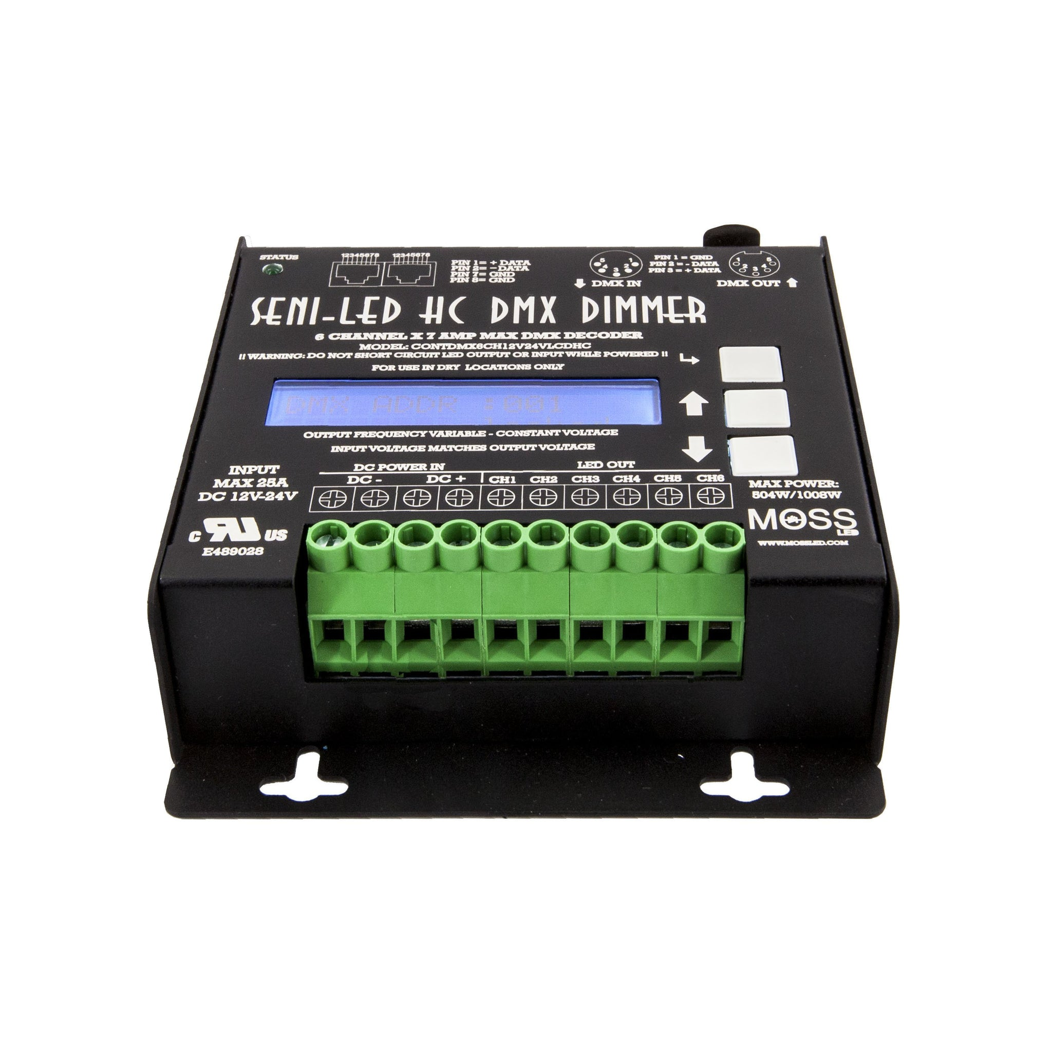 Seni Led High Current Dmx 6 Channel Dimmer Moss Rgb Pwm Driver For Power 350ma Leds V3 Using Pic12f629
