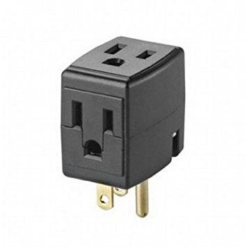 Rental - Three-Way Power Cube Tap - Moss LED