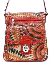 Sequined Cross-Body Bag in Red