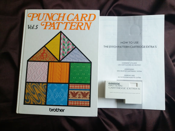 Brother Knitting Machine Punchcard patterns Extra's cartridge & Book vol 5