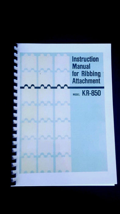 Brother Knitting Machine KR 850 Instruction manual