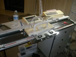 Siver Reed Chunky Electronic Knitting Machine SK 890 9mm Guage + SR 155 Chunky Ribber with EC1 and PE1 controllers - machine4u