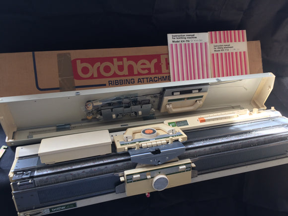 Brother Fine Gauge Knitting Machine Package KH 120 + KR 120 Ribber Very Rare