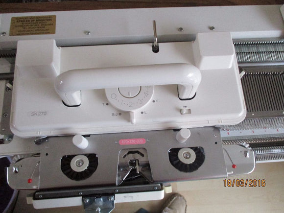 Silver Reed Knitting Machine SK 270 Fine Gauge Brand New 2 Year Warranty For Sale