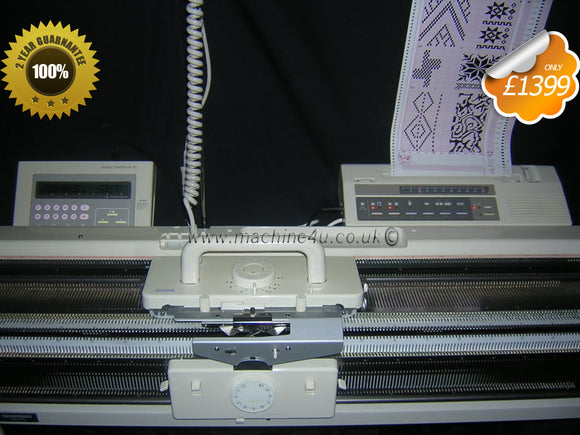 Silver Reed Electronic Knitting Machine SK 840 + SRP60N Ribber + EC1 Pattern & PE1 Controller - machine4u