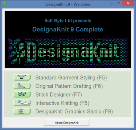 DesignaKnit 9 Complete Knitting CAD Software Knitting Machine For Sale