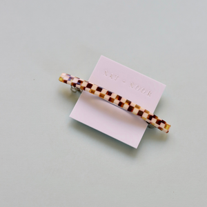 Jela Barrette Checkered