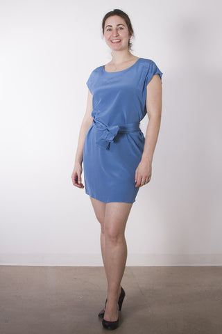 Orchidee Belted Silk Dress