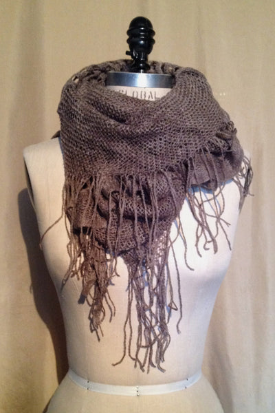 Cashmere and Wool Knit Tube Scarf