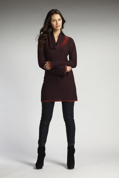 Inside-Out Cowl Neck Tunic