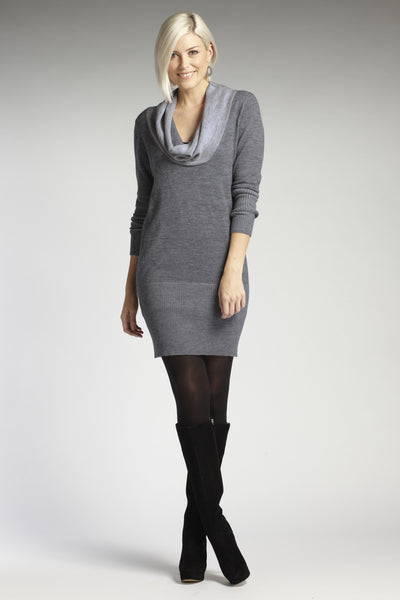 Colorblock Cowl Sweater Dress