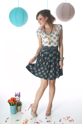 Garden Party Pleated Dress