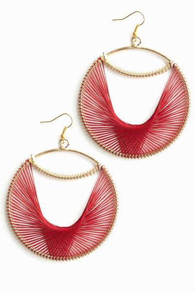 Red Orchid Earrings