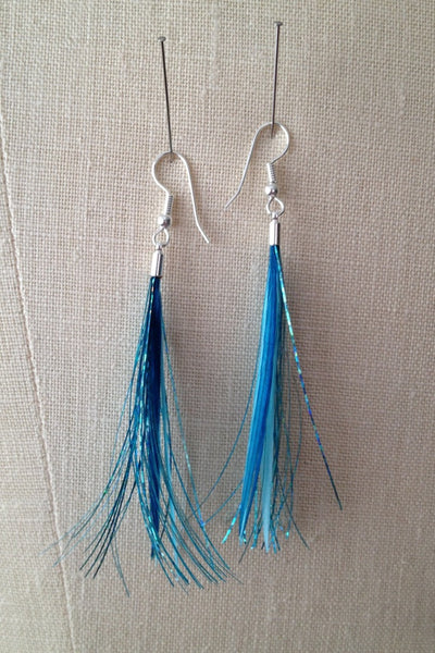 Tinsel Blue Petite Statement Earrings