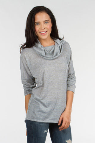 Cowl Neck Oversized Pullover