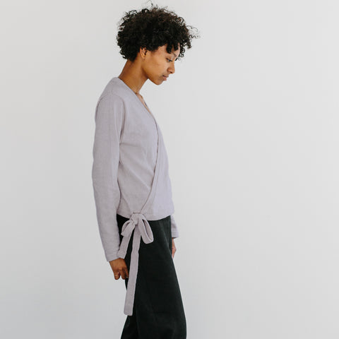 The Knit Wrap Top - Haze