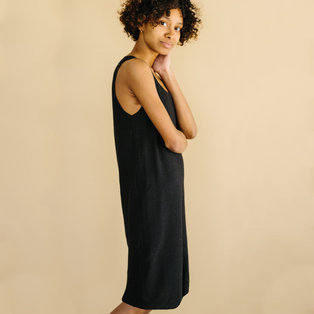 The Knit Tank Dress - Black