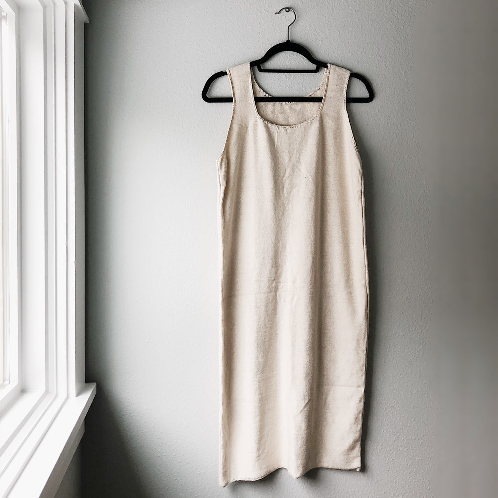 The Knit Tank Dress - Ecru