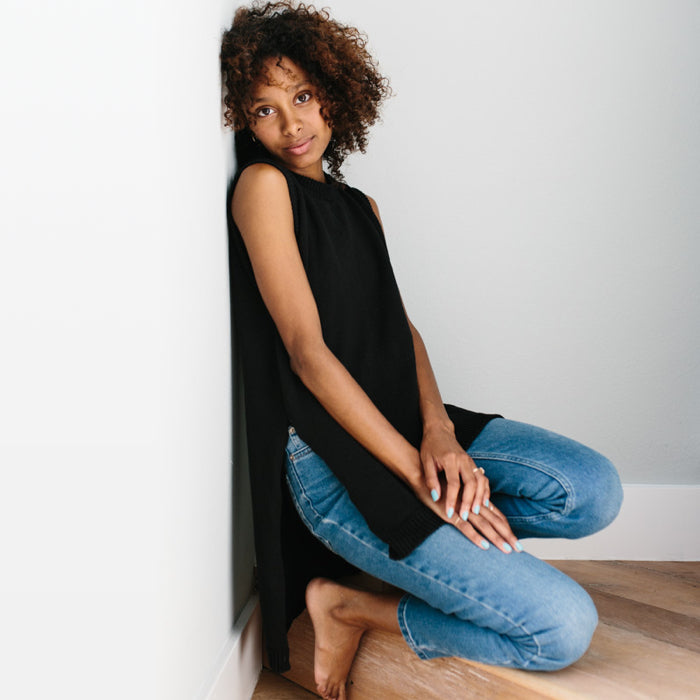 PREORDER: The Split Tunic - Black