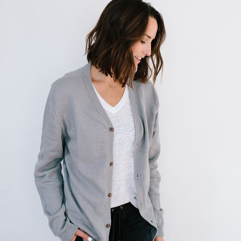 The Cotton Cardigan - Grey