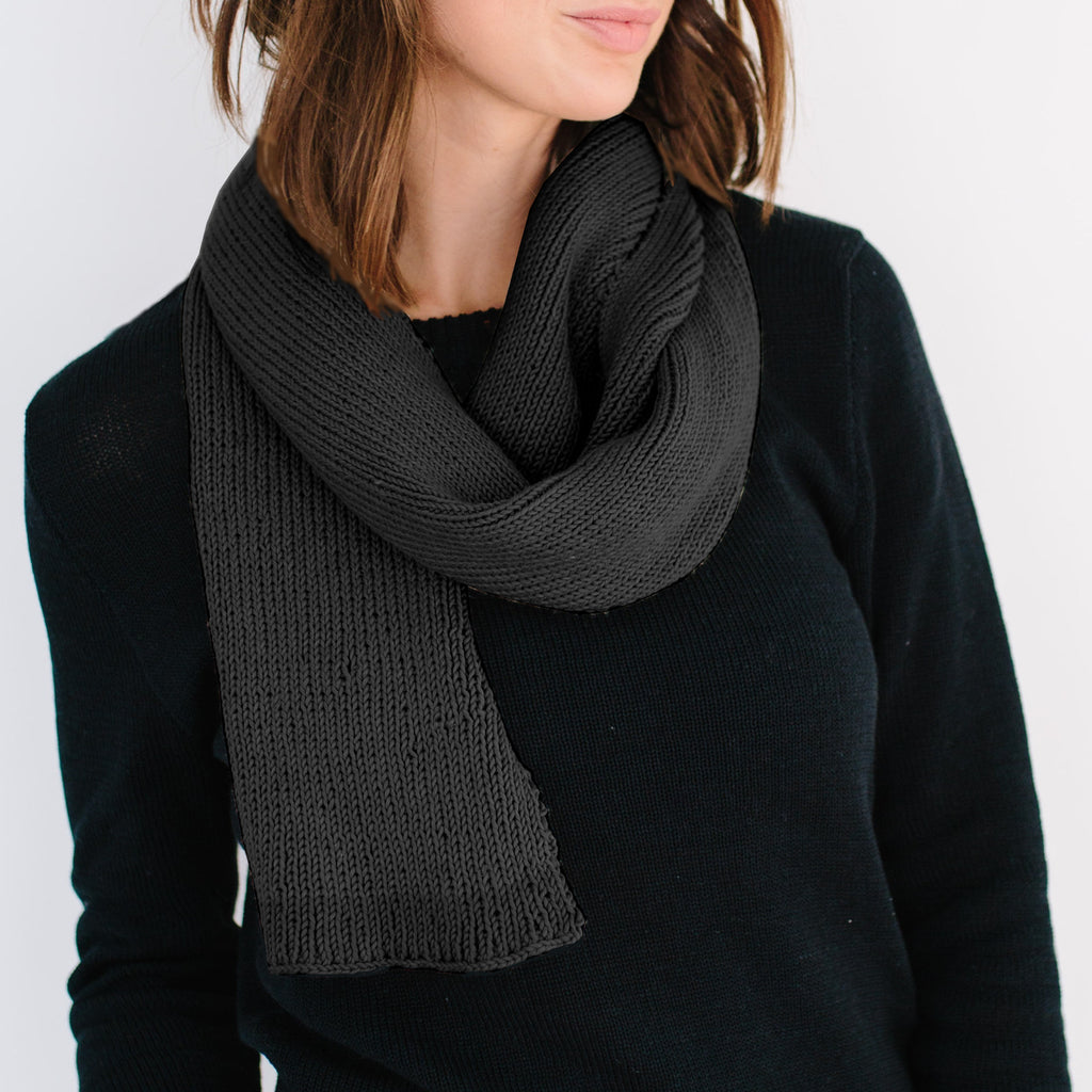 The Ribbed Scarf - Black
