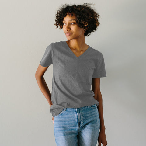 The Vee Tee - Ash Grey