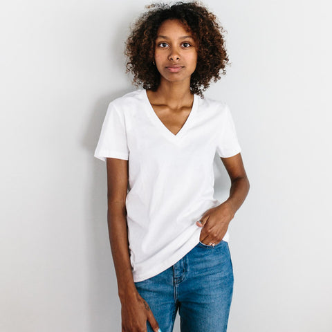 The Vee Tee - White