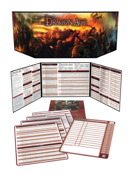 graphic about Pathfinder Gm Screen Printable titled Dragon Age Match Masters Package, Revised (PDF) - Eco-friendly Ronin
