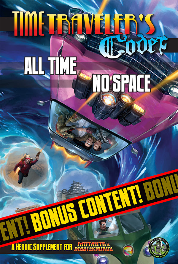 All Time, No Space (A Free Mutants & Masterminds PDF)