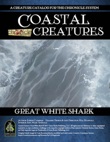 Coastal Creatures: Great White Shark (Chronicle System PDF)