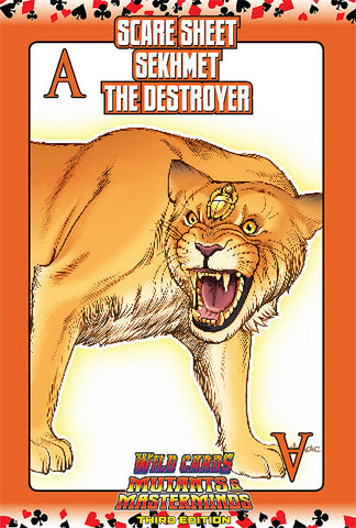 Wild Cards SCARE Sheet 21: Sekhmet the Destroyer (PDF)