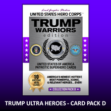 Load image into Gallery viewer, USHC TRUMP Warriors Hero Collection Card Pack - D