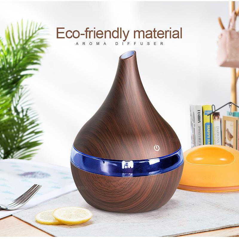 Wood grain aroma diffused essential oil USB charging essential oil household air humidifier