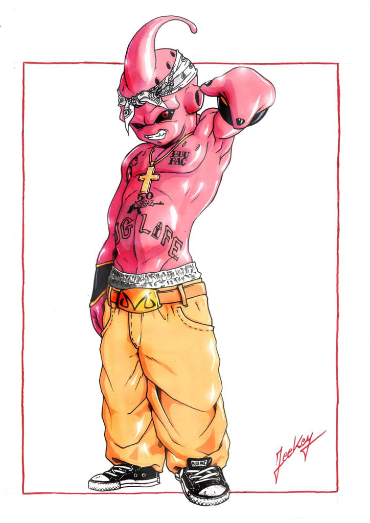 Daomey-Art-Collection-2pac-boo-DBZ-Painting