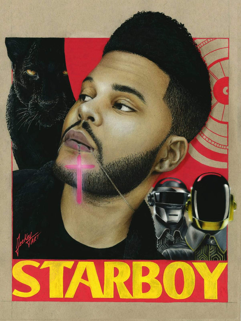 Daomey-Art-Collection-Starboy-Theweeknd-Painting