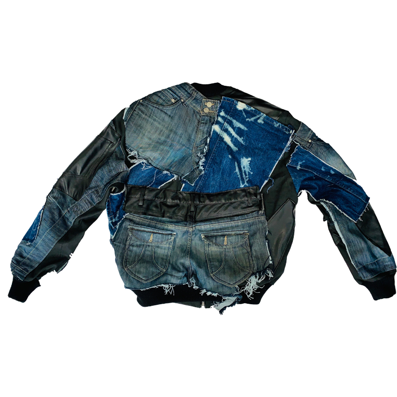 Leather & Denim Jacket - Jaded Life