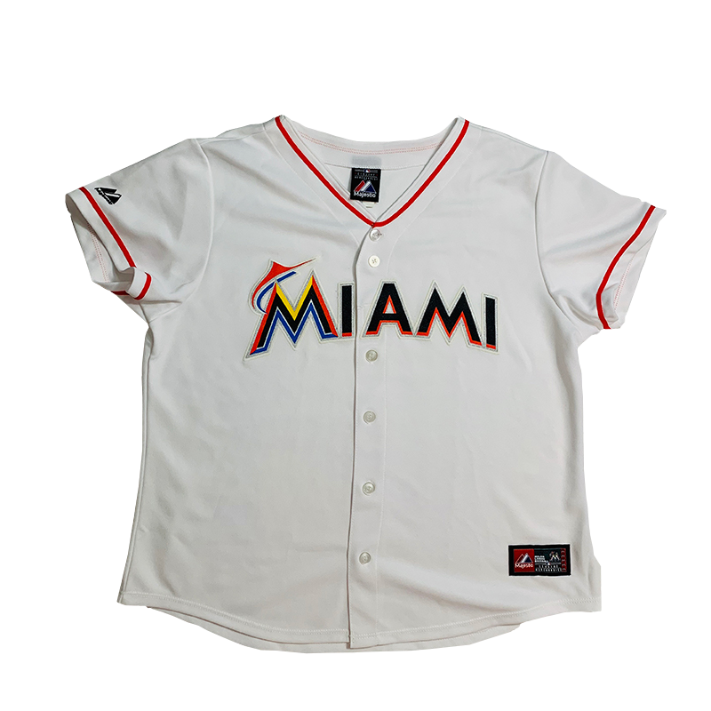 Miami Dolphins Vintage Baseball Jersey