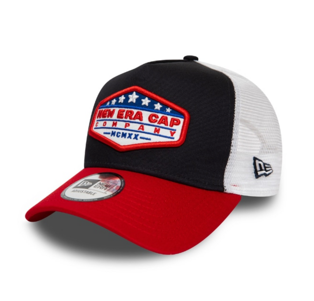 NEW ERA USA PATCH BLACK CONTRAST TRUCKER