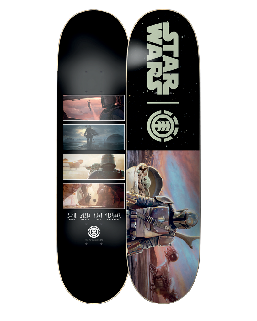 "STAR WARS X ELEMENT 8"" MANDALORIAN HUNTER & PREY - SKATEBOARD DECK"